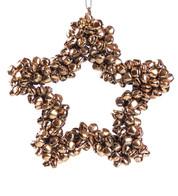 Rose Gold Metal Star Bell Wreath - Rose Gold