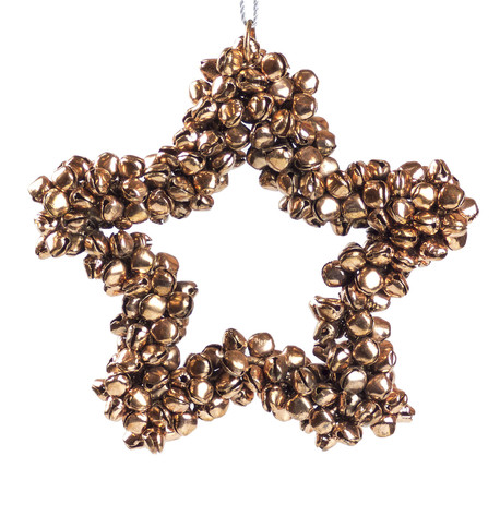 Rose Gold Metal Star Bell Wreath Rose Gold