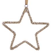 Rose Gold Beaded Stars - Rose Gold