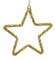 Gold Beaded Stars - Gold