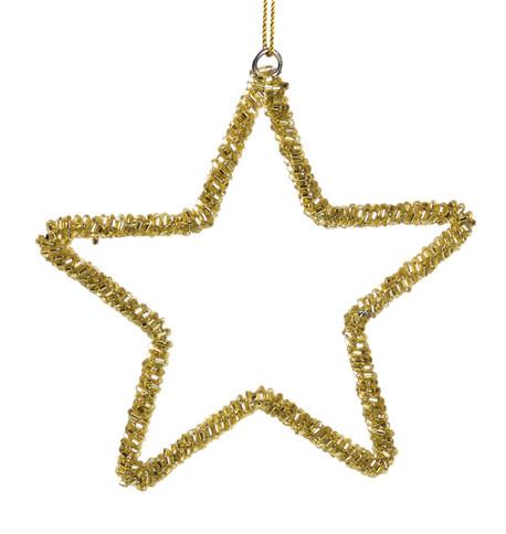Gold Beaded Stars Gold