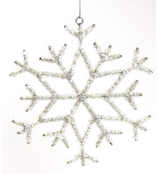 Silver Beaded Snowflake - Silver
