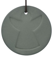 Grey Ceramic Angel Disk - Grey