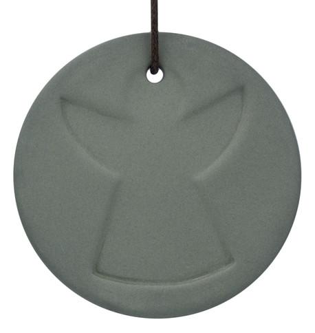 Grey Ceramic Angel Disk Grey