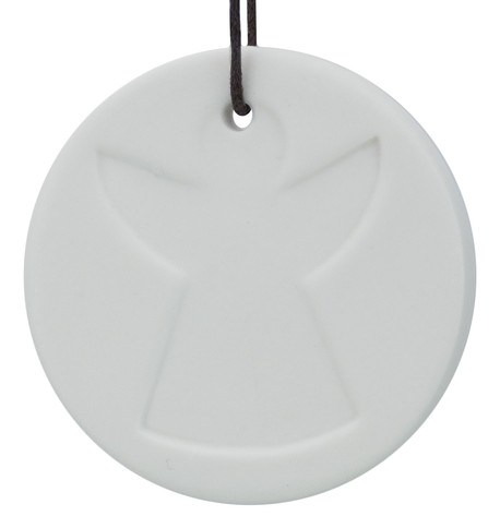 White Ceramic Angel Disk White