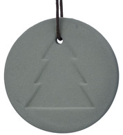 Grey Ceramic Tree Disk - Grey