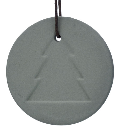 Grey Ceramic Tree Disk Grey