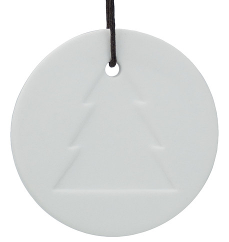 White Ceramic Tree Disk White
