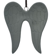 Grey Ceramic Angel Wings - Grey