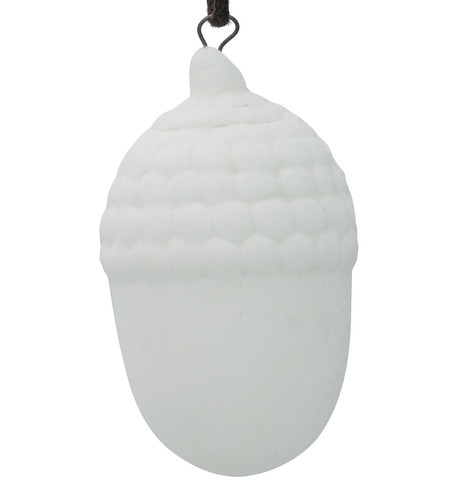 Ceramic Acorn Decoration White