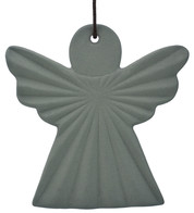 Ceramic Ridged Angel - Grey