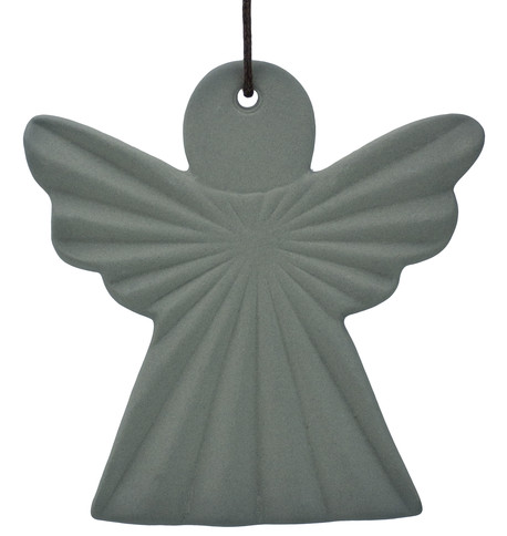 Ceramic Ridged Angel Grey