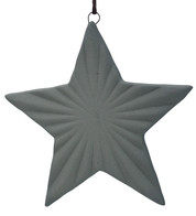 Ceramic Ridged Star - Grey