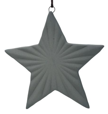 Ceramic Ridged Star Grey