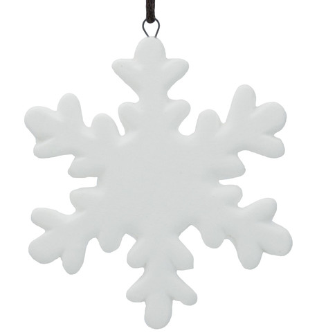 Ceramic Snowflake Decoration White