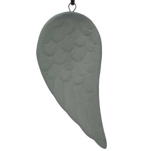 Grey Ceramic Wing Decoration Grey