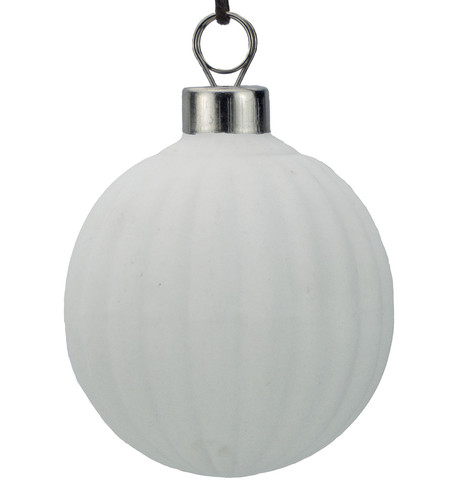 White Ceramic Ridged Ball White