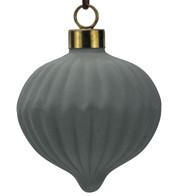 Grey Ceramic Onion - Grey