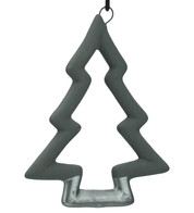 Grey & Silver Ceramic Christmas Tree - Grey
