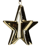 Gold Metallic Glazed Stars - Gold