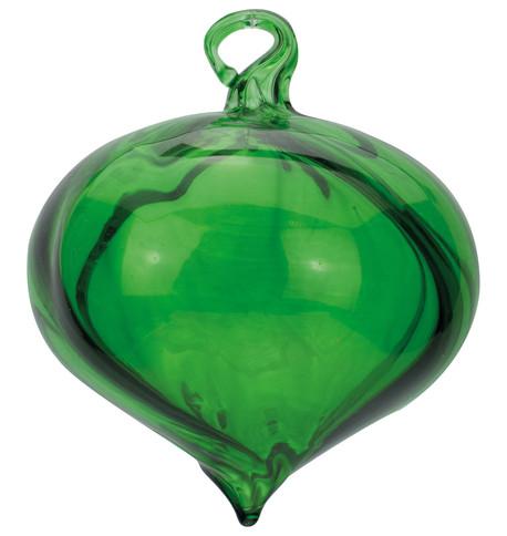 Emerald Glass Swirl Onions Emerald