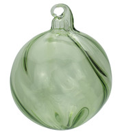Green Glass Swirl Baubles - Green