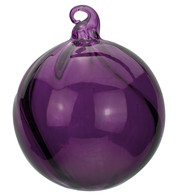 Purple Glass Swirl Baubles - Purple