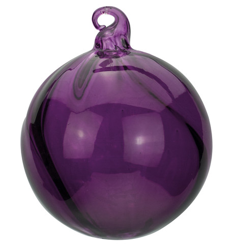 Purple Glass Swirl Baubles Purple