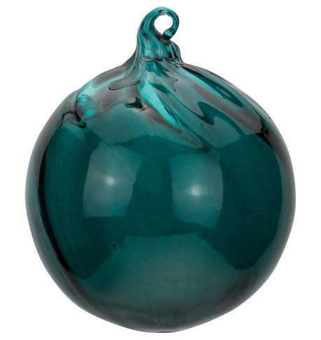 Teal Glass Swirl Baubles Teal