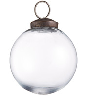 Clear Glass Baubles - Clear