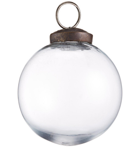Clear Glass Baubles Clear