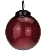 Clear Red Glass Baubles - Red