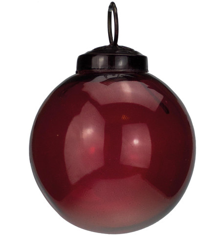 Clear Red Glass Baubles Red