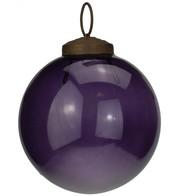 Clear Purple Glass Baubles - Purple