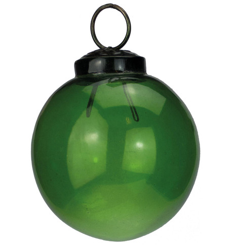Clear Green Glass Baubles Green