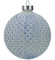 Blue Matt Tipped Baubles - Blue