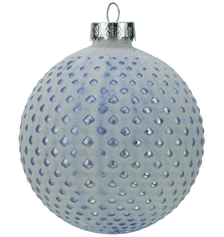 Blue Matt Tipped Baubles Blue