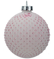 Pink Matt Tipped Baubles - Pink