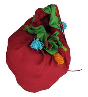 Giant Red Tassel Sack - Red