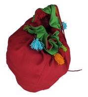 Giant Red Tassel Sack - Red