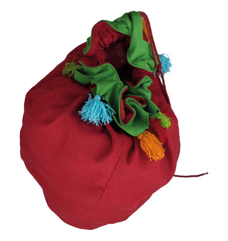 Giant Red Tassel Sack Red