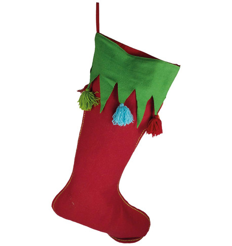 Giant Red Tassel Stocking Red
