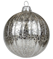 Silver Mercury Glass Baubles - Silver