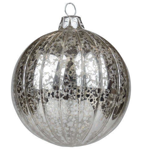 Silver Mercury Glass Baubles Silver