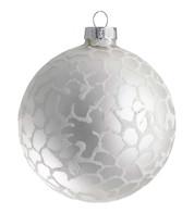 Stipple Glaze Silver Baubles - Silver