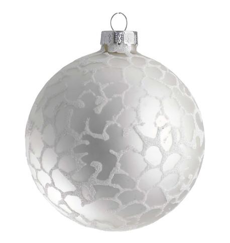Stipple Glaze Silver Baubles Silver