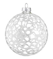 Stipple Glaze Clear Baubles - Clear