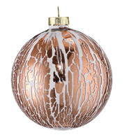 Oil Glaze Copper Glass Bauble - Copper