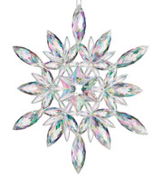 Iridescent Clear Snowflake - Iridescent