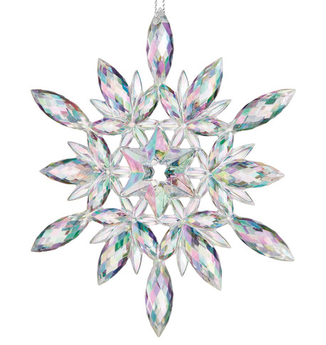 Iridescent Clear Snowflake Iridescent